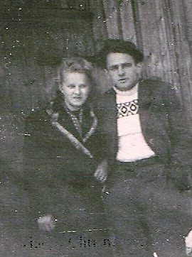 German POW with his wife