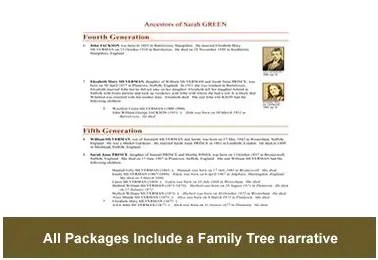 Family Tree Research Narrative example