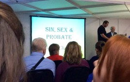 Dr Colin R Chapman on Sin, Sex & Probate, at day one of Who Do You Think You Are? Live 2014