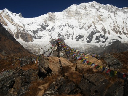 A reminder of just how dangerous Annapurna is - not the bit we did.