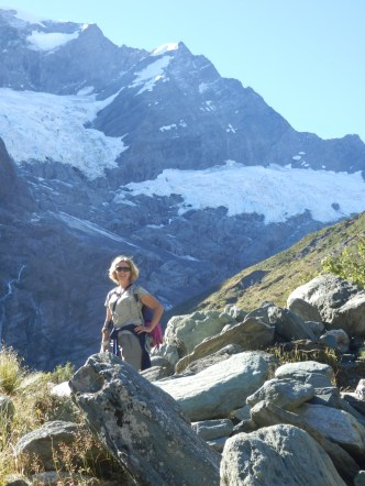 Angela at the Glacier