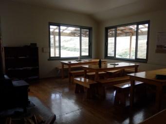 Dining area in super delux hut.