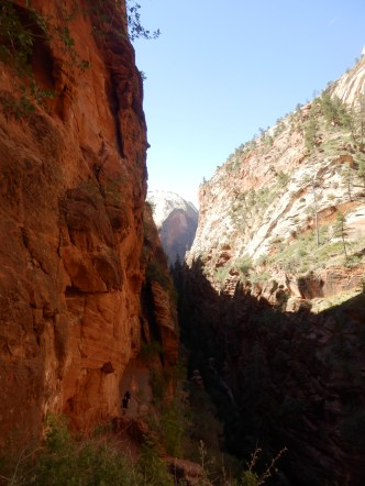 View through slot canyon