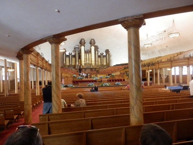 Inside the tabernacle in Salt lake city. it looked just like a very very big version of teh church that Emmaville uses in Crawcrook