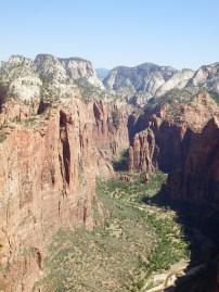 View from top of Angels Landing