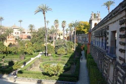 Giardini dell'Alcazar dalla terrazza