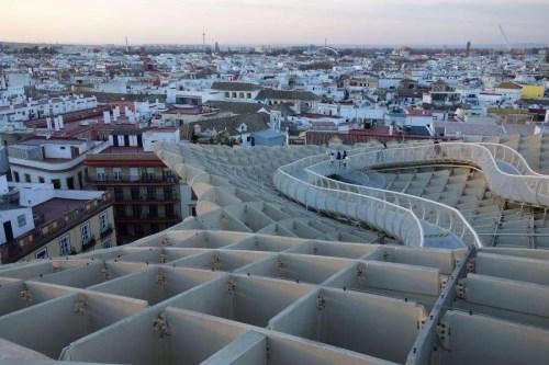 Metropol Parasol panorama su Siviglia