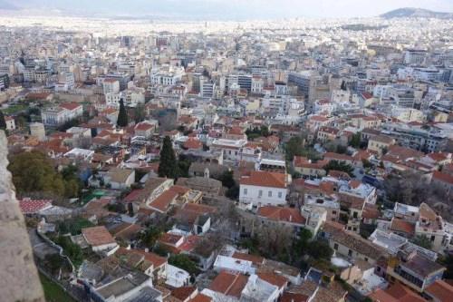 Vista dall'acropoli di Atene