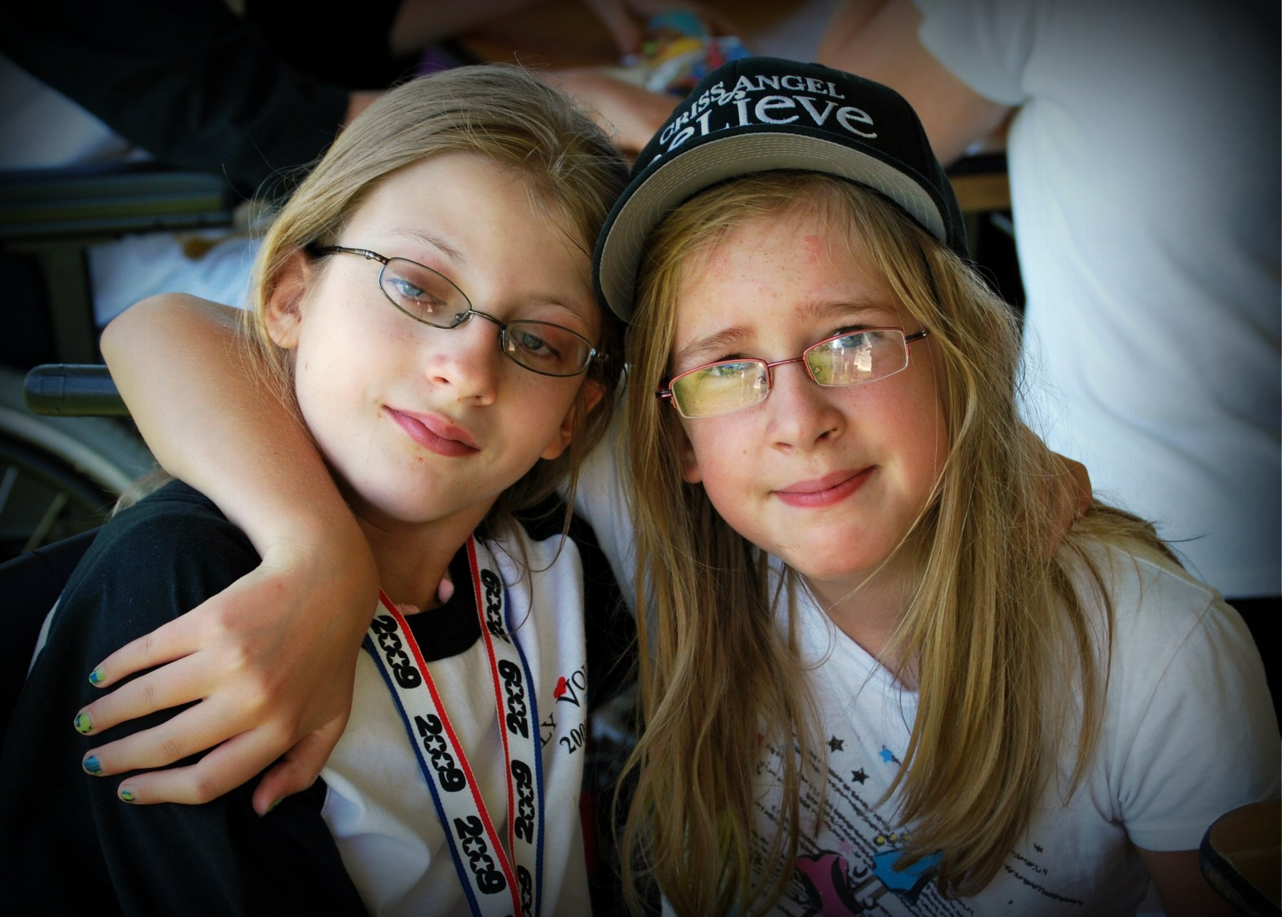 Two girls at our 2009 Going to Bat for Kids event