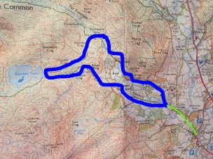 We went clockwise. The green bit is the walk down the road to Grasmere Village