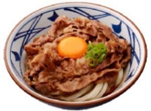 丸亀製麺の「牛すき釜玉うどん」