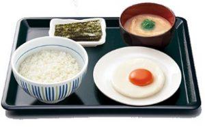 なか卵「目玉焼き朝定食」