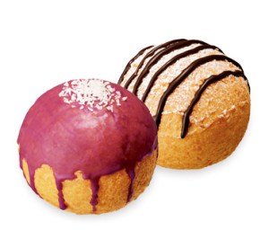 ミスド ハロウィン ポン・デ・シュードーナツ紫いも&クッキークリーム