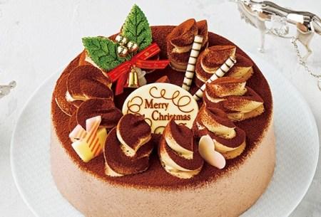 セブンイレブンのクリスマスケーキ2016「クリスマスチョコレートケーキ 5号」