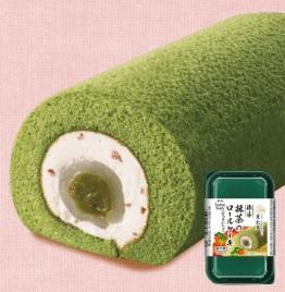 ファミリーマート「節分抹茶のロールケーキ(ぎゅうひ入り)」
