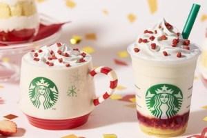 スタバ「メリーストロベリーケーキフラペチーノ、メリーストロベリーケーキミルク」2019年11月1日