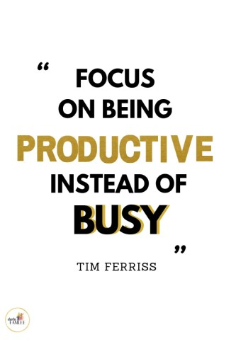 How to stay focus and be productive