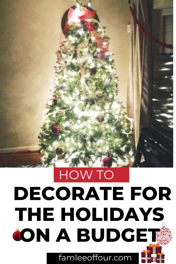 Looking for cheap and budget friendly ways to decorate for Christmas ? Check out 5 DIY easy ways to decorate your home for the holidays. #christmasdecorations #DIYdecor #budgetfriendlydecoratingideas