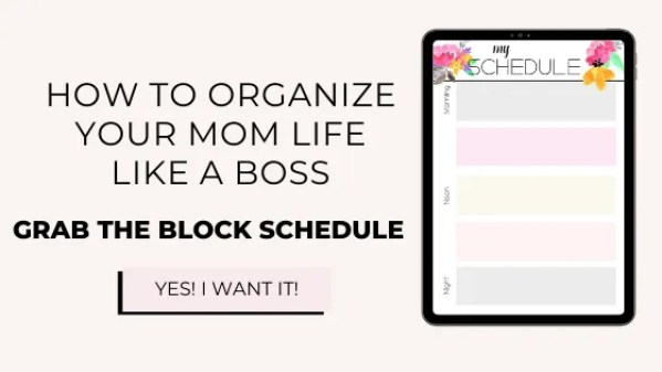 working mom schedule