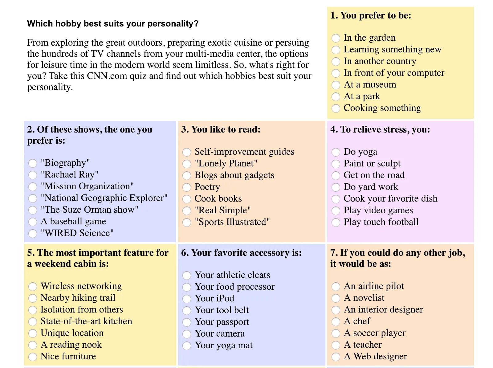 passion and life purpose quiz