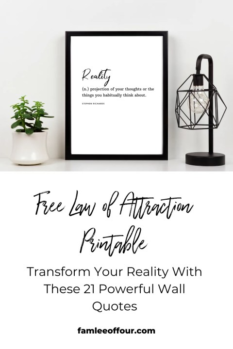 Law of attraction printable quote. Manifest, Spirituality, Mindset, Wall art