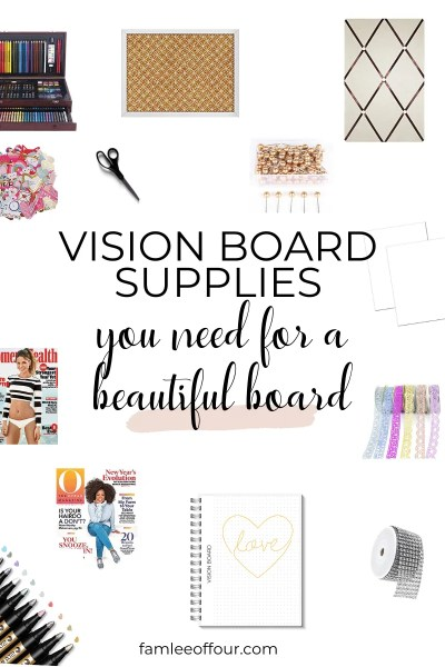 Creating a beautiful vision board doesn't have to take a lot of time. Its never to late to start manifesting our dreams by using a vision board. Click through for some amazing vision board supplies you should add to your list. Manifest Your Dreams, Visualization, Affirmations, Spirituality, Making dreams come true #visionboardsupplieslist