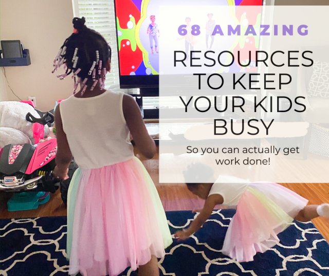 resources to keep your kids busy while you work at home