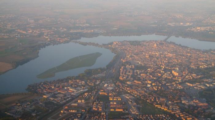 aerial over Mantova