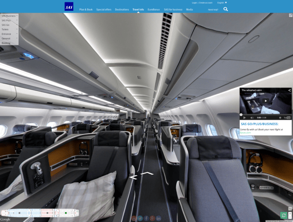 SAS new cabin