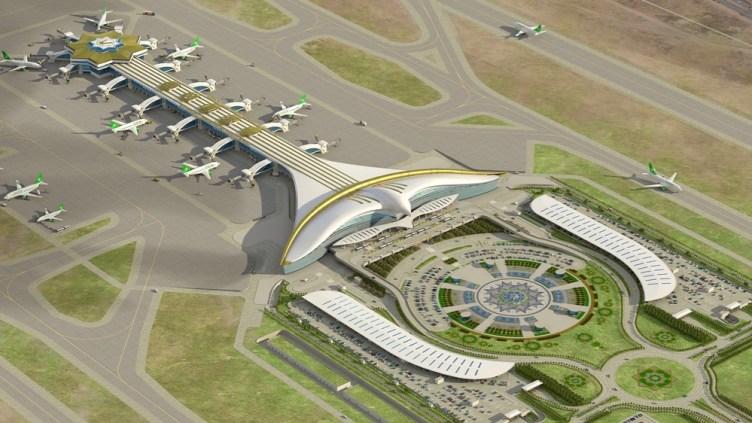 rendering dell'aeroporto di Ashgabat ASB