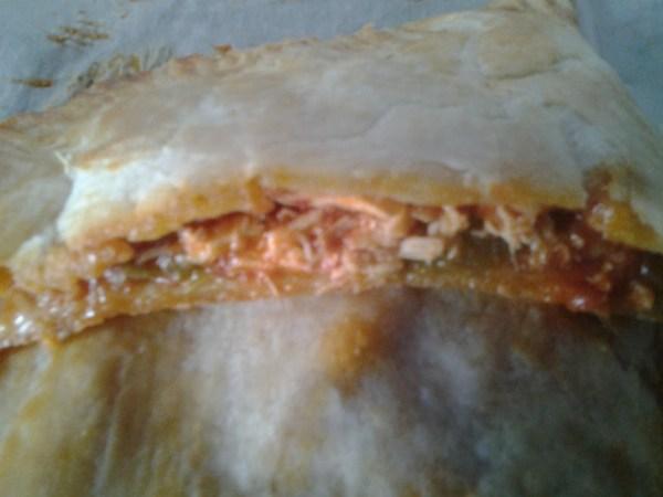 Chausson au saumon et aux légumes