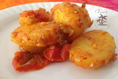 pommes de terre aux tomates et au safran