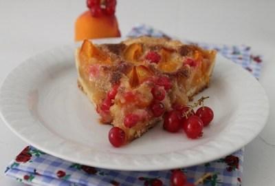 Tarte aux abricots et groseilles