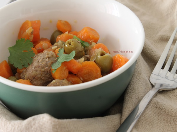 Boulettes de boeuf carottes