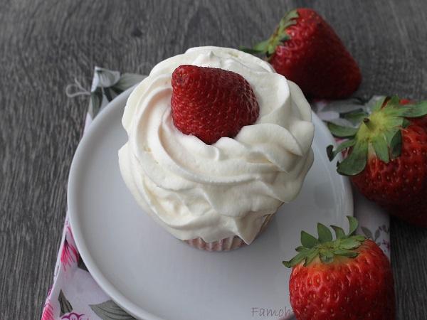 cupcake aux fraises