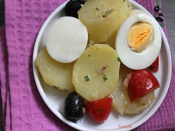 salade de pommes de terre froide
