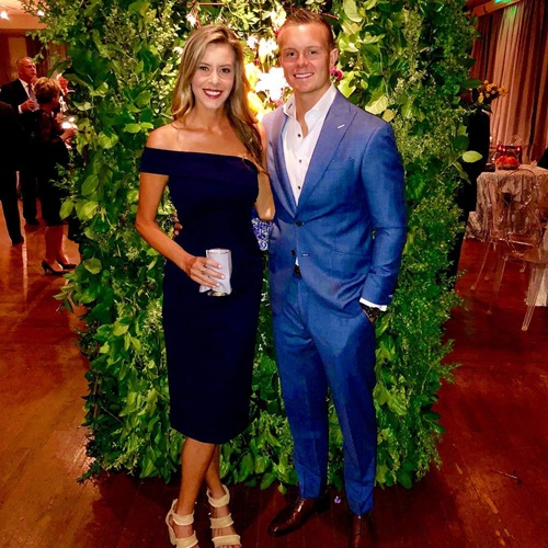 Cody Parkey with his wife colleen parkey