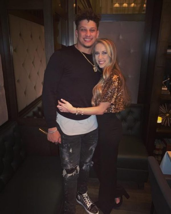 Patrick Mahomes with his Girlfriend