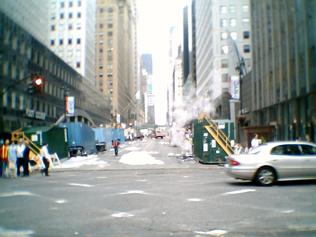 A view up 41st Street July 20 am