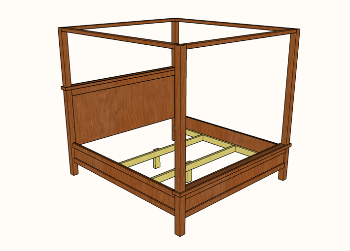 Farmhouse canopy bed plans  sc 1 st  Famous Artisan & DIY Farmhouse Canopy Bed plans - King Size » Famous Artisan