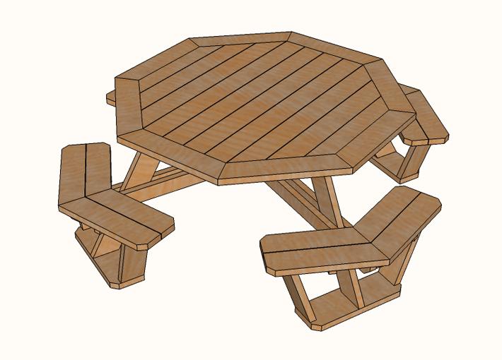 Octagon Picnic Table Plans Famous Artisan