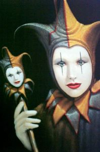 Court Jester - painting by Jim Howle