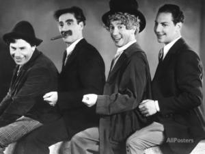 Publicity photo from Animal Crackers - the Marx Brothers - Chico, Groucho, Harpo, Zeppo