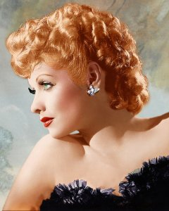 Lucille Ball color headshot