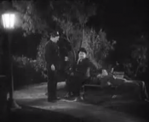 Night Owls - police officer Edgar Kennedy finds Oliver Hardy and Stan Laurel sleeping on a park bench