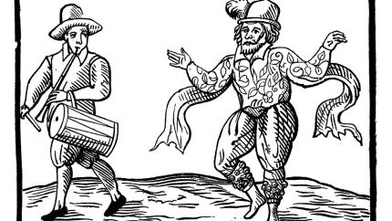 William Kempe, Elizabethan clown, dancing a jig