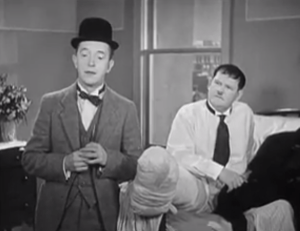 County Hospital - Stan Laurel and Oliver Hardy are thrown out of the hospital!