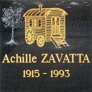 Achille Zavatta commemorative plaque