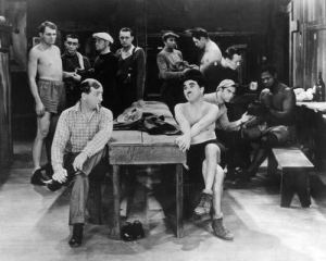 Hank Mann and Charlie Chaplin in the boxing scene from City Lights