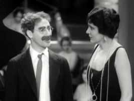 Groucho Marx and Margaret Dumont